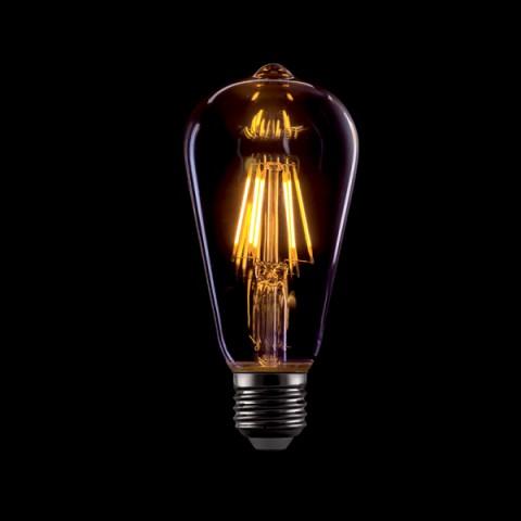 LED Vintage sijalka E27 8 W 2800 do 3200 K Ø 64 ↕ 138 zatemljiva