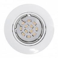 Eglo Peneto vgradna svetilka bele barve 5 W, 3000 K,  Ø 87
