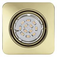 Eglo Peneto vgradna svetilka zlate barve, 5 W, 3000 K,  87 x 87